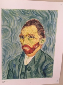 I finished this acrylic painting my first year of college in a design course. I focused on line and texture with this copy work set. This is one of four pieces I finished of Van Gogh.