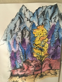 This was one of my first watercolor and ink works I have ever done. I really enjoy this combination and am greatly inspired my nature.