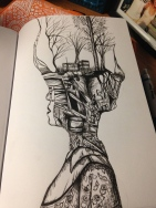 This is a copywork sketch I did with a fine point ink pen.