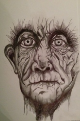 This is a copy work sketch I did with ink pen and pencil.
