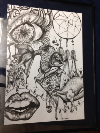 I made this sketch for friend my first year of college. Finished it with an ink pen and light shading.